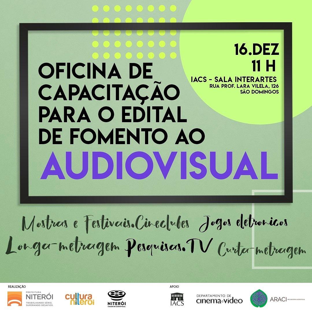 Oficina de capacitação para o edital de fomento ao Audiovisual